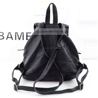 Black PU Casual & Shopping Handbags #LDB03160142