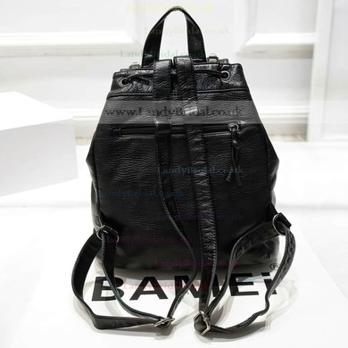 Black PU Casual & Shopping Rivet Handbags #LDB03160144
