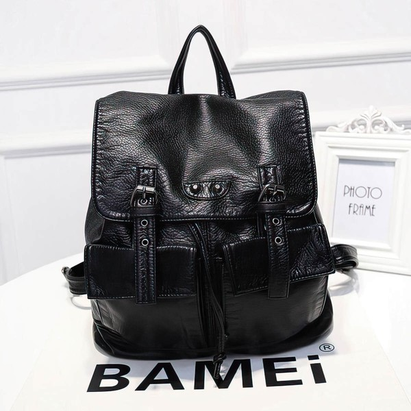 Black PU Casual & Shopping Metal Handbags #LDB03160145