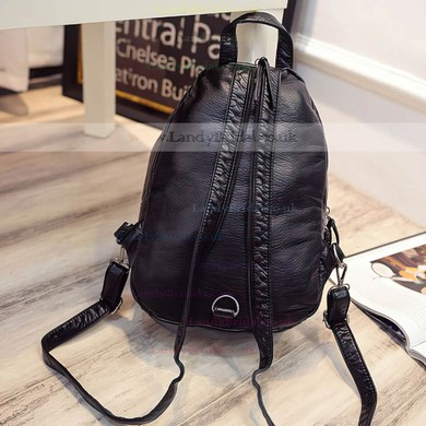 Black PU Casual & Shopping Handbags #LDB03160147
