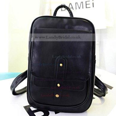 Black PU Casual & Shopping Rivet Handbags #LDB03160148