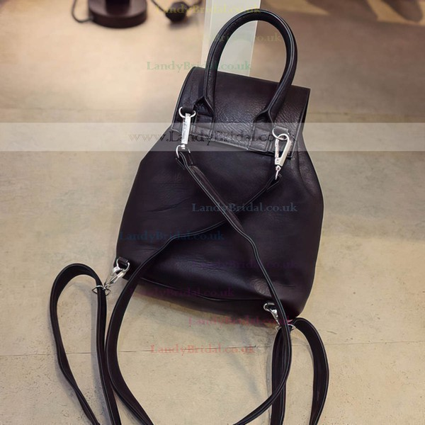 Black PU Office & Career Metal Handbags