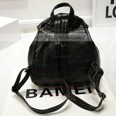 Black PU Casual & Shopping Metal Handbags #LDB03160152