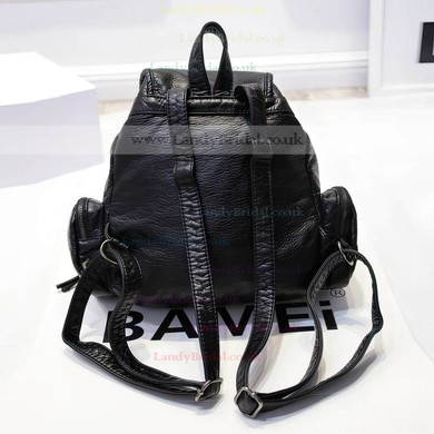 Black PU Casual & Shopping Metal Handbags #LDB03160153