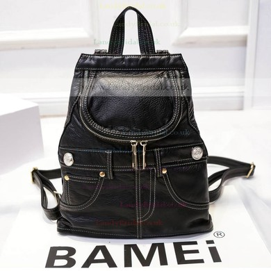Black PU Casual & Shopping Metal Handbags #LDB03160154