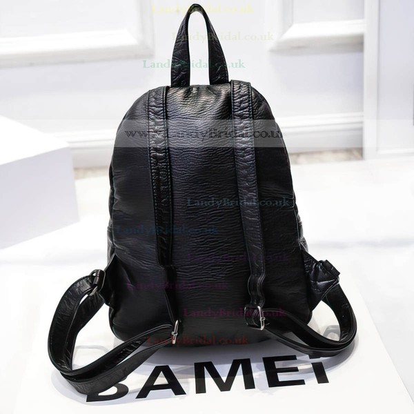 Black PU Casual & Shopping Rivet Handbags