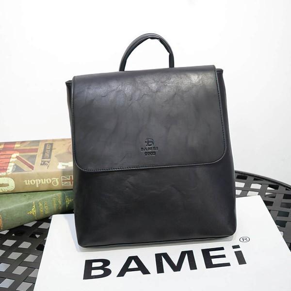 Black PU Casual & Shopping Handbags
