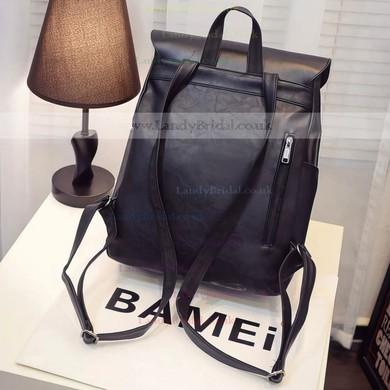 Black PU Casual & Shopping Metal Handbags #LDB03160157