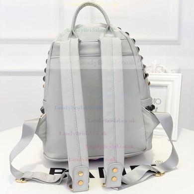 Gray PU Office & Career Rivet Handbags #LDB03160159
