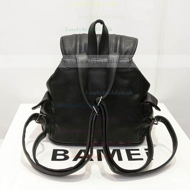 Black PU Office & Career Metal Handbags #LDB03160162