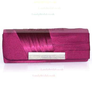 Black Silk Wedding Ruffles Handbags #LDB03160194