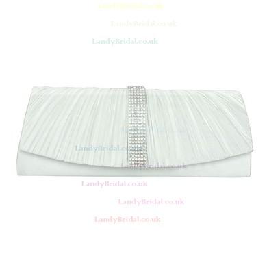 Black Silk Wedding Crystal/ Rhinestone Handbags #LDB03160195