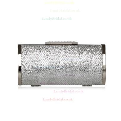 Silver Sequin Wedding Crystal/ Rhinestone Handbags #LDB03160196