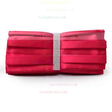 Black Silk Ceremony & Party Crystal/ Rhinestone Handbags #LDB03160197
