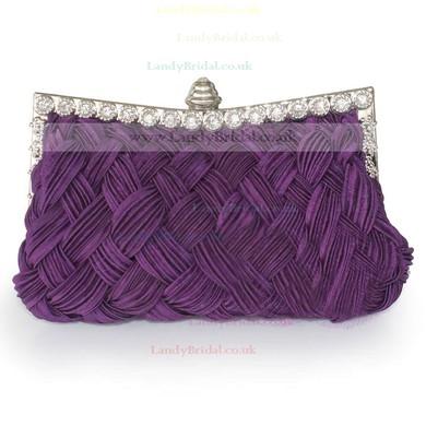 Black Silk Wedding Crystal/ Rhinestone Handbags #LDB03160198