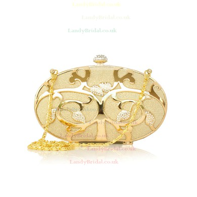 Silver Metal Wedding Metal Handbags #LDB03160200