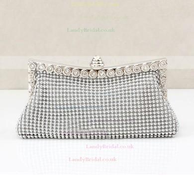 Black Crystal/ Rhinestone Wedding Crystal/ Rhinestone Handbags #LDB03160202