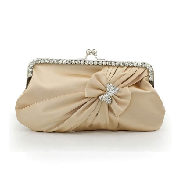 Black Silk Wedding Crystal/ Rhinestone Handbags #LDB03160203