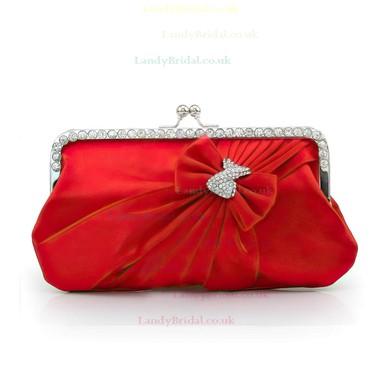 Black Silk Wedding Crystal/ Rhinestone Handbags #LDB03160203
