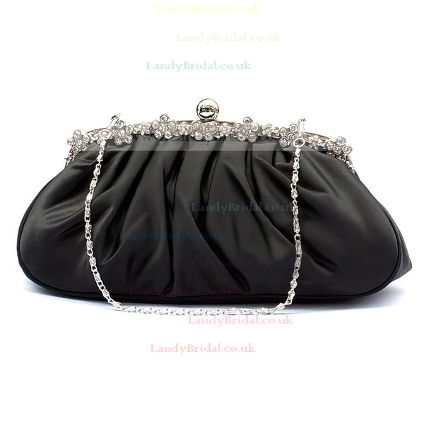 Black Silk Wedding Ruffles Handbags