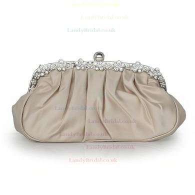 Black Silk Wedding Ruffles Handbags #LDB03160204
