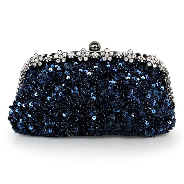 Black Sequin Wedding Crystal/ Rhinestone Handbags #LDB03160205