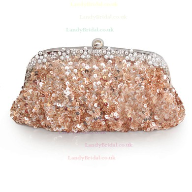 Black Sequin Wedding Crystal/ Rhinestone Handbags #LDB03160205