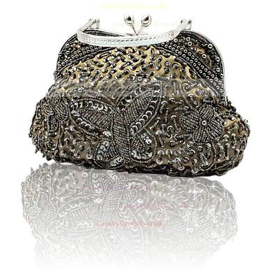 Black Silk Wedding Crystal/ Rhinestone Handbags #LDB03160206