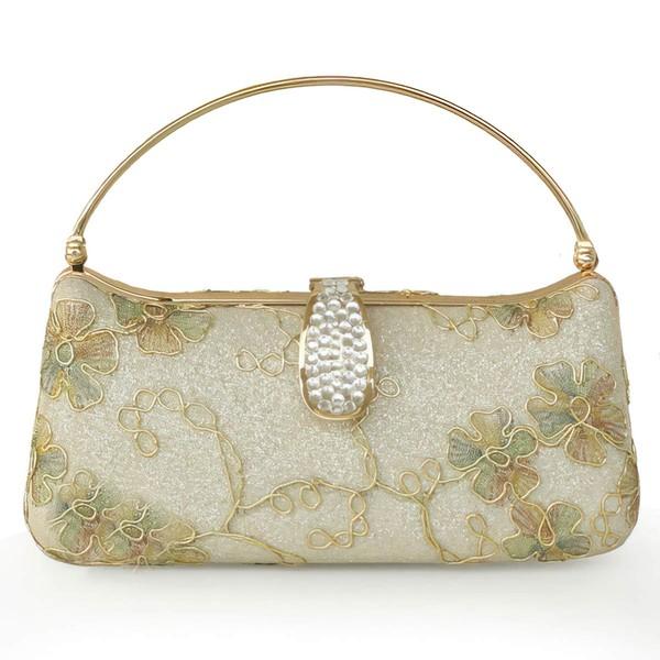 Silver Metal Wedding Flower Handbags