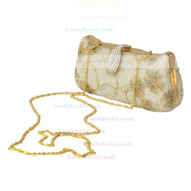 Silver Metal Wedding Flower Handbags #LDB03160208