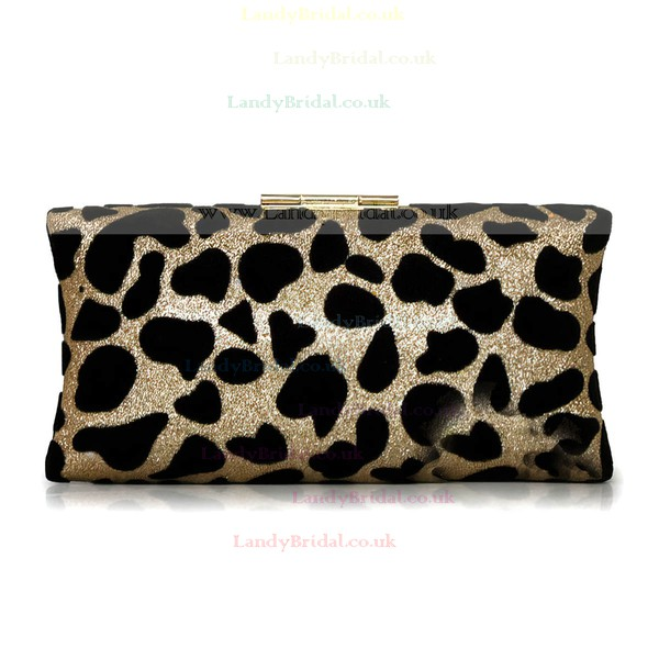 Leopard Silk Wedding Crystal/ Rhinestone Handbags
