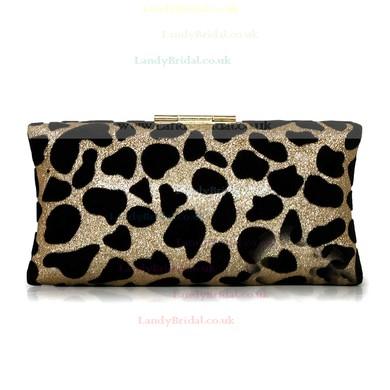 Leopard Silk Wedding Crystal/ Rhinestone Handbags #LDB03160209