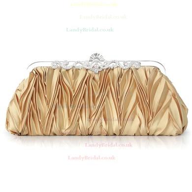 Black Silk Wedding Crystal/ Rhinestone Handbags #LDB03160210