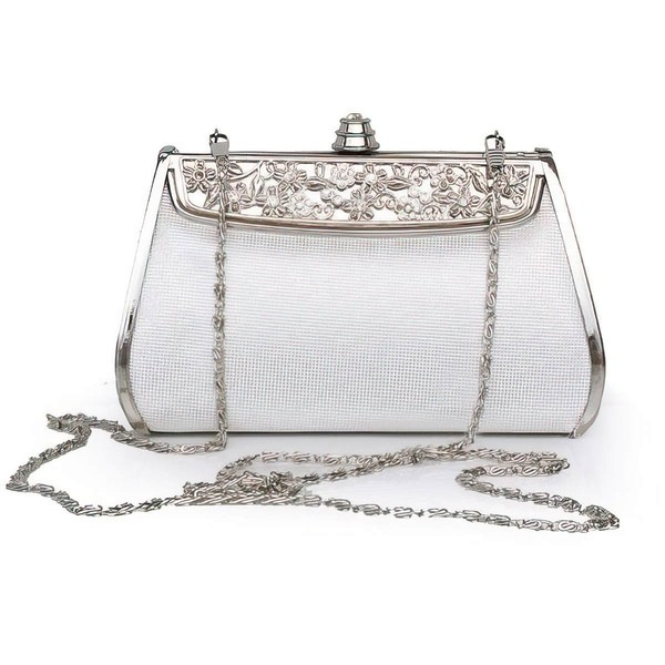 Silver Silk Wedding Metal Handbags