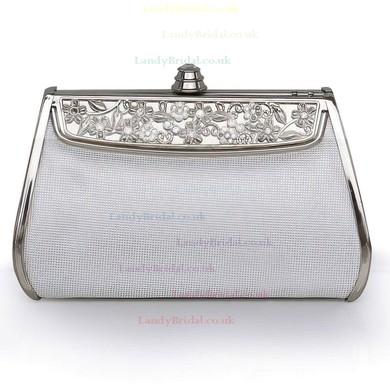 Silver Silk Wedding Metal Handbags #LDB03160212