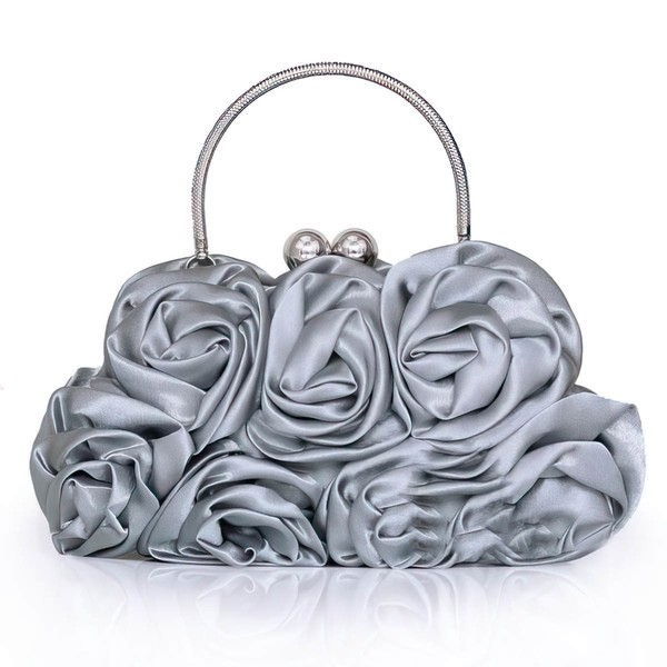 Black Silk Wedding Flower Handbags #LDB03160214
