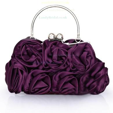 Black Silk Wedding Flower Handbags #LDB03160214