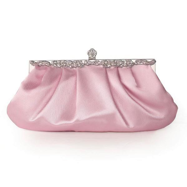 Black Silk Wedding Crystal/ Rhinestone Handbags