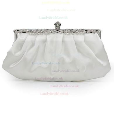 Black Silk Wedding Crystal/ Rhinestone Handbags #LDB03160215