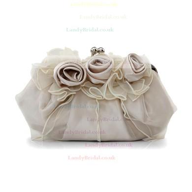 Black Silk Wedding Flower Handbags #LDB03160216