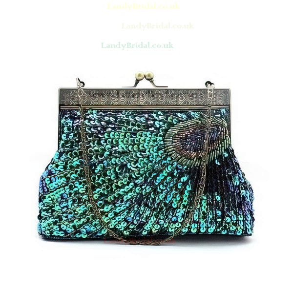 Silver Sequin Wedding Beading Handbags