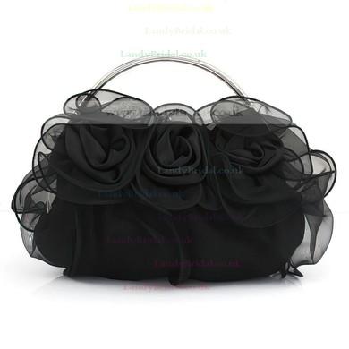 Black Silk Wedding Flower Handbags #LDB03160219