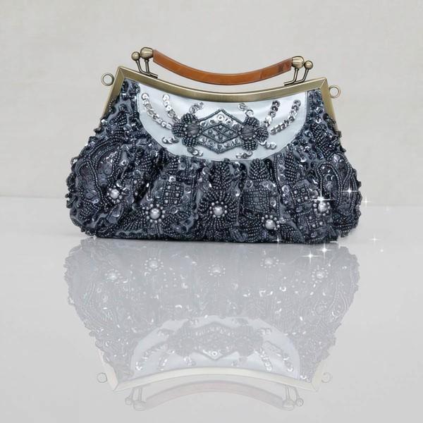 Black Pearl Wedding Sequin Handbags