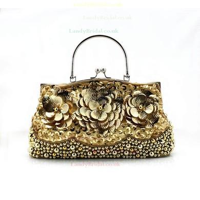 Black Silk Wedding Flower Handbags #LDB03160221