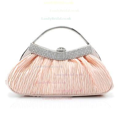 Black Silk Wedding Crystal/ Rhinestone Handbags #LDB03160222