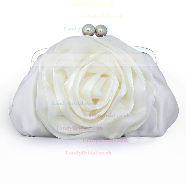 Black Silk Wedding Flower Handbags