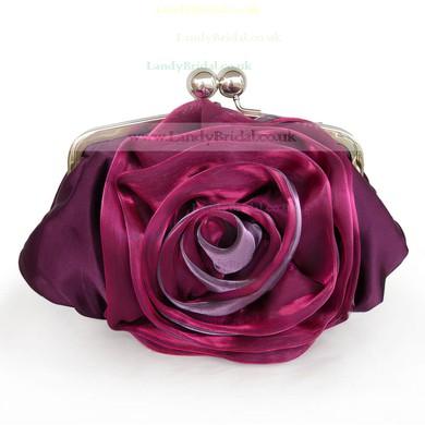 Black Silk Wedding Flower Handbags #LDB03160224