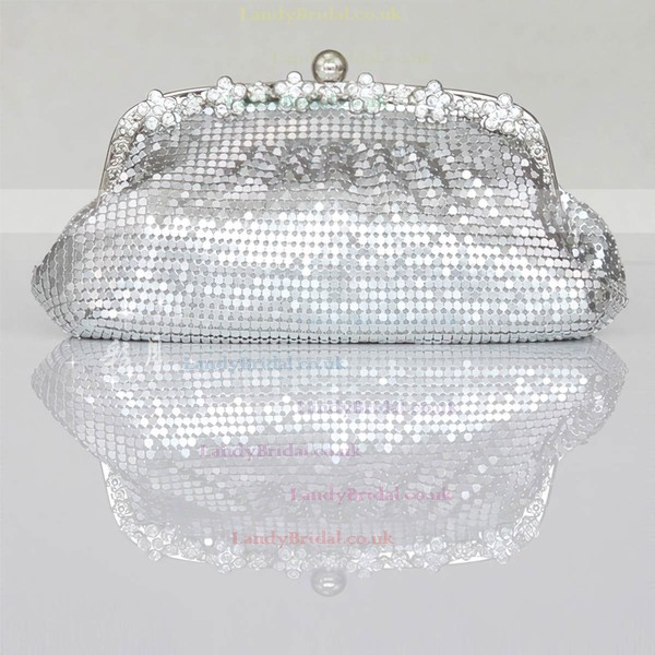 Black Sequin Wedding Crystal/ Rhinestone Handbags