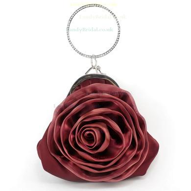 Black Silk Wedding Flower Handbags #LDB03160226
