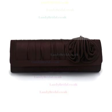 Black Silk Wedding Flower Handbags #LDB03160227